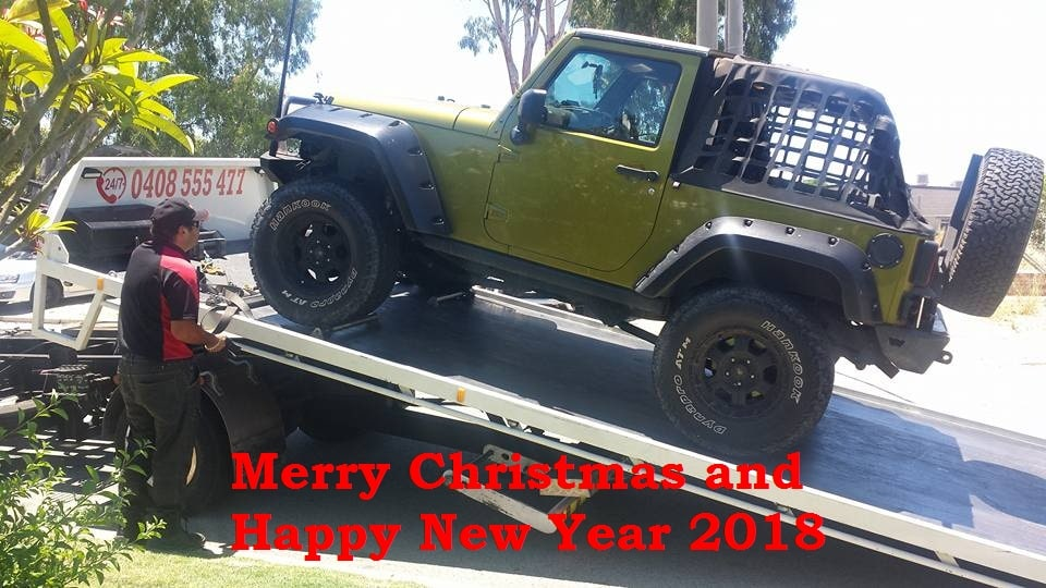 Happy New year from Towing company